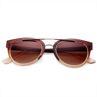Retro Ladies Round Frame Gradient Sunglasses(NO.4) - intl