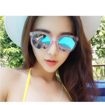 Kính tráng gương chống bụi, bảo vệ mắt phong cách hàn quốc + BAO DA H185(TRẮNG)