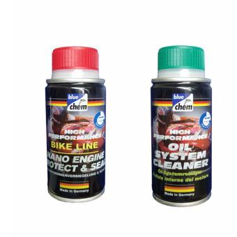 Bộ 2 sản phẩm vệ sinh và chăm sóc xe máy Bluechem Oil-Nano 50ml