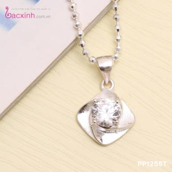 Mặt dây chuyền nữ trang sức bạc Ý S925 Bạc Xinh mặt xoay PP1255