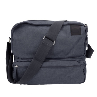 Large Capacityl Men Women Treva Crossbody Shoulder Bag (Dark Grey) - intl