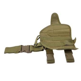 OH Practical Airsoft Military Tactical Drop Leg Thigh Holster Pouch Kahki - Intl - intl
