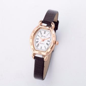 Đồng hồ nữ dây da GE012 ( đen )