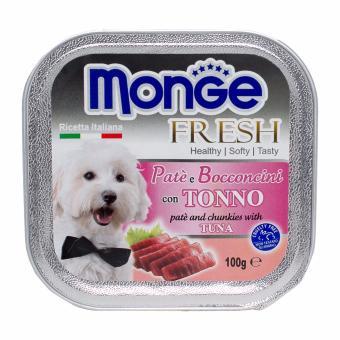 Pate bổ sung dưỡng chất cho chó vị cá ngừ Monge Tuna (Ý)