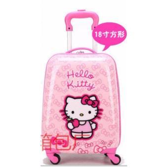 Vali kéo trẻ em 18inch màu hồng hình HelloKitty