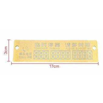 Thẻ số điện thoại phát quang cỡ to màu Vàng dành cho ô tô khi đậu xe không đúng chỗ tạm thời