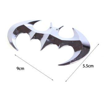 Logo Batman dán trang trí xe hơi (Trắng bạc)