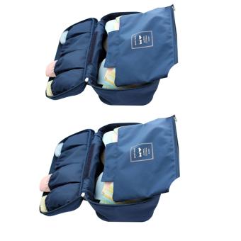 Bộ 2 túi đựng đồ lót du lịch Monopoly underwear (Xanh than).