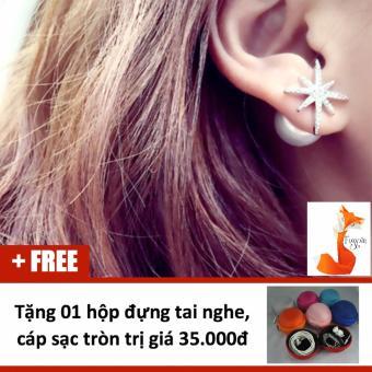 Bông tai nữ trang sức bạc Ý S925 Foxy - Hoa ngọc HT1500
