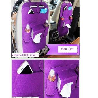 Túi đựng đồ ghế sau xe ô tô VIPauto-TĐĐ01 (Tím)