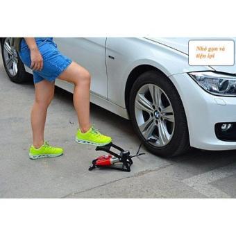 Bơm hơi đạp chân ô tô xe máy 2 bitton Hanghot365