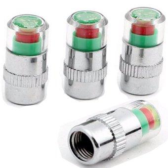 Bộ 4 nút gắn van hơi lốp xe cảnh báo áp suất lốp xe hơi