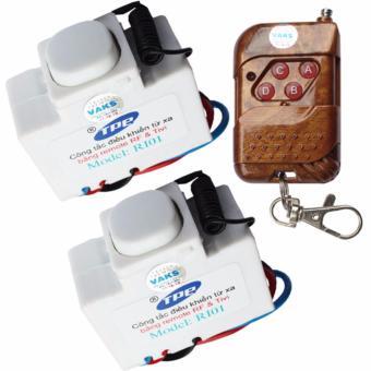 Bộ 02 công tắc điều khiển từ xa IR-RF TPE RI01+ 01 Remote 4 nút