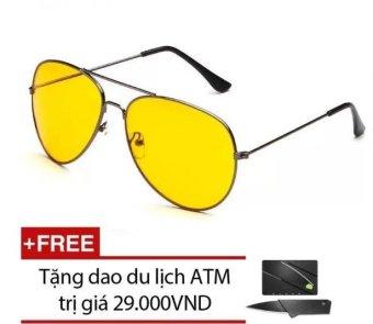 Kính mắt ngày và đêm Night View Glass (Vàng) + Tặng 1 dao ATM du lịchp PhúcAn