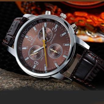 Đồng hồ nam dây da thời trang Womage 8323 (Dây nâu mặt nâu)