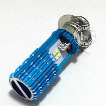 Đèn pha led Thanh Khang 2 chân cao cấp M5 8 tim 16w iron màu xanh dương gắn xe máy(ánh sáng trắng)