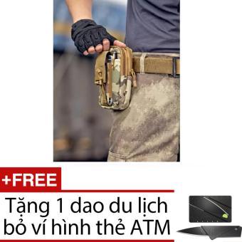 Túi đeo hông, thắt lưng đựng điện thoại + Tặng dao du lịch hình thẻ ATM