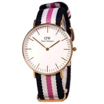 Đồng hồ nam dây vải Daniel Wellington 0506DW (Trắng hồng)