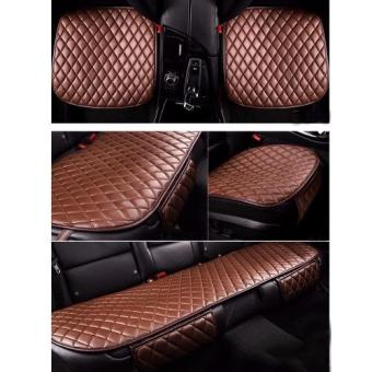 Bộ lót ghế da cho ô tô mẫu 3 (Nâu)