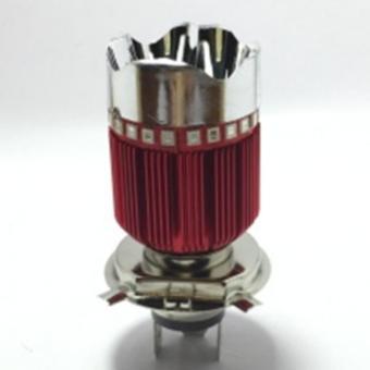 Đèn Fa led 3 chân H4-7 màu gắn pha xe máy (loại 3 bóng)