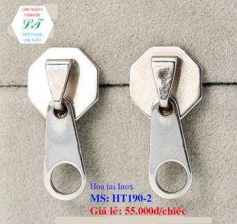 Bông tai Inox Khóa kéo độc đáo HT190-2 (Trắng)