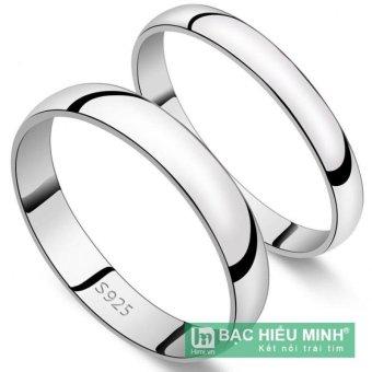 Nhẫn đôi Bạc Hiểu Minh nc401s nhẫn trơn