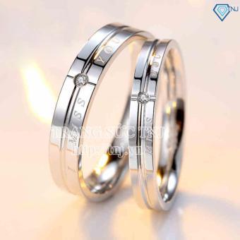 Nhẫn đôi nhẫn cặp bạc đẹp ND0148