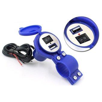 Sạc điện thoại gắn trên xe máy (xanh)