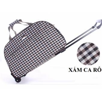 Vali túi kéo du lịch vải dù size 20 inch B180(Xám Ca Rô)