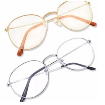 Bộ đôi mắt kính nobita gọng cận (Trắng-Vàng)