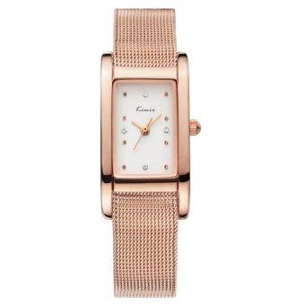 Đồng hồ nữ dây thép không gỉ Kimio KW6018S-RG01 mặt trắng (Đồng)