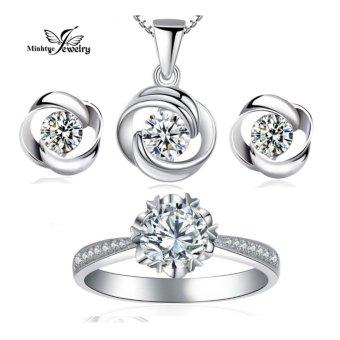 Bộ trang sức bạc 3 món thời trang SBT01A