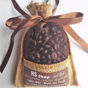 Túi thơm hạt cà phê tự nhiên khử mùi Ô tô -HS shop