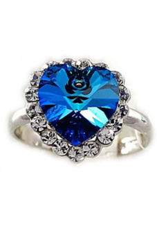 Fancyqube Titanic Heart Of Ocean Ring Blue