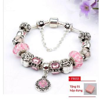 Vòng trang sức 3D hạt charms đeo tay Jewelry Queen Victoria Charm Panda DZ58 + Tặng hộp đựng