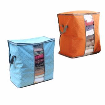 Combo 2 túi vải đựng đồ tiện dụng (xanh-cam)