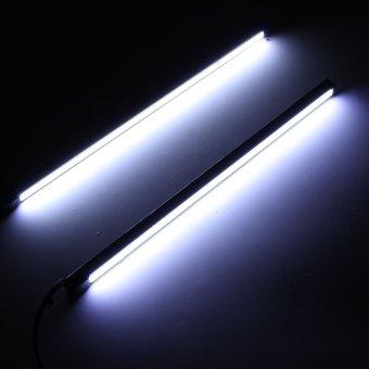 Pair 20CM COB LED DRL Daytime Running Light Car Strip Foglight Tail Lamp 12V 5W - Intl