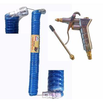 Bộ sản phẩm dây hơi loxo và súng xì khô xì hơi cho máy nén khi thiết bị không thể thiếu cho rửa xe