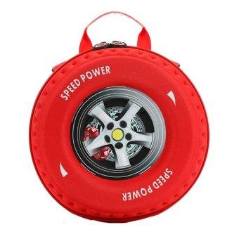 Ba lô hình bánh xe 3D cho bé (Đỏ)