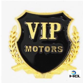 Lô gô VIP Motor Gắn Xe Ôtô HQ 2TI77-2(vàng)