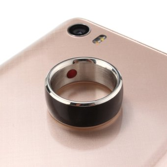 JAKCOM R3F Black Magic Wearable Smart Ring For Android WP Mobile Phone With NFC Size 7 - intl