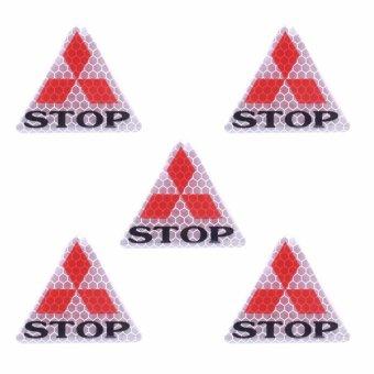Bộ 5 decal phản quang STOP (tam giác bạc)