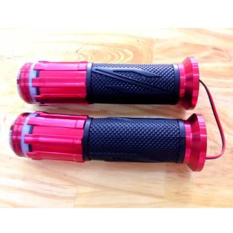 Bộ 2 Bao Tay Lái Xe máy có hộp đèn led new design (đỏ)