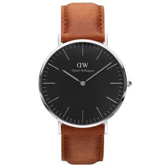 Đồng hồ nam dây da Daniel Wellington DW00100132 (Nâu đen)