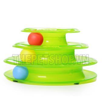 Đồ chơi tháp cho mèo - Tower of Tracks xanh