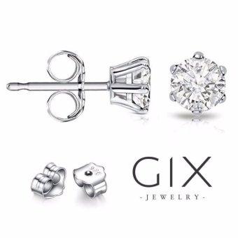 Bông tai bạc nữ đá kim cương nhân tạo mạ vàng trắng đẹp Gix Jewelry - SPE-0001
