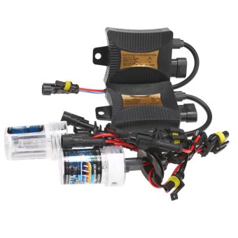 BolehDeals 55W HID Xenon Conversion Headlight Ballast Kit Bulb 9005 4300K Sunset Yellow - intl