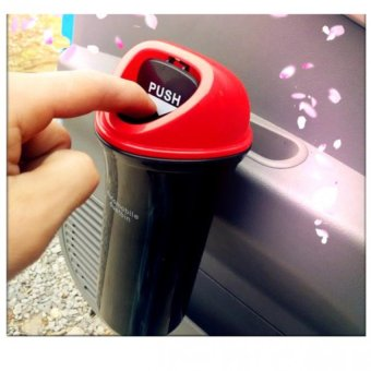 Thùng rác mini trên ô tô 402 (Mầu đen phối đỏ)