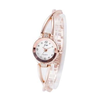 Đồng hồ lắc tay dây kim loại nữ xinh xắn JW (Vàng)