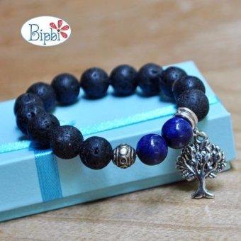 Vòng tay đá nham thạch mix lapis lazuli BIPBI VTZ 560